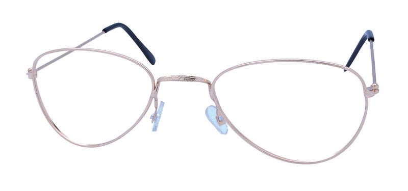 Gold Old Lady Glasses With No Lens Red Riding Hood Grandma Fancy Dress Glasses