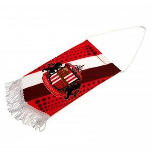 Sunderland Fc Mini Pennant Mascot Flag 11Cm X 18Cm - Official Merchandise