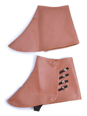 Brown Faux Leather Steampunk Spats Steam Punk Victorian Fancy Dress
