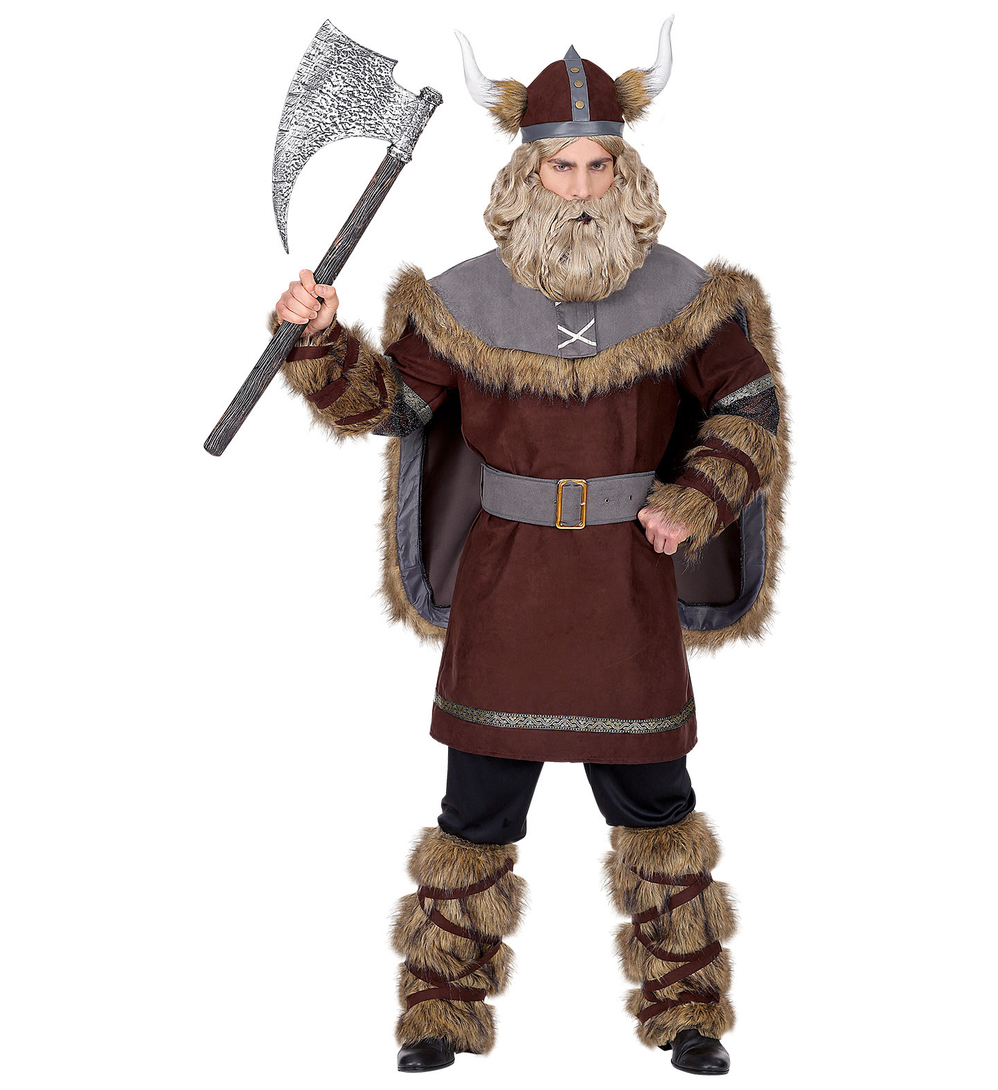 Mens Male Viking Chief Fancy Dress Costume Vikings Outfit Adult