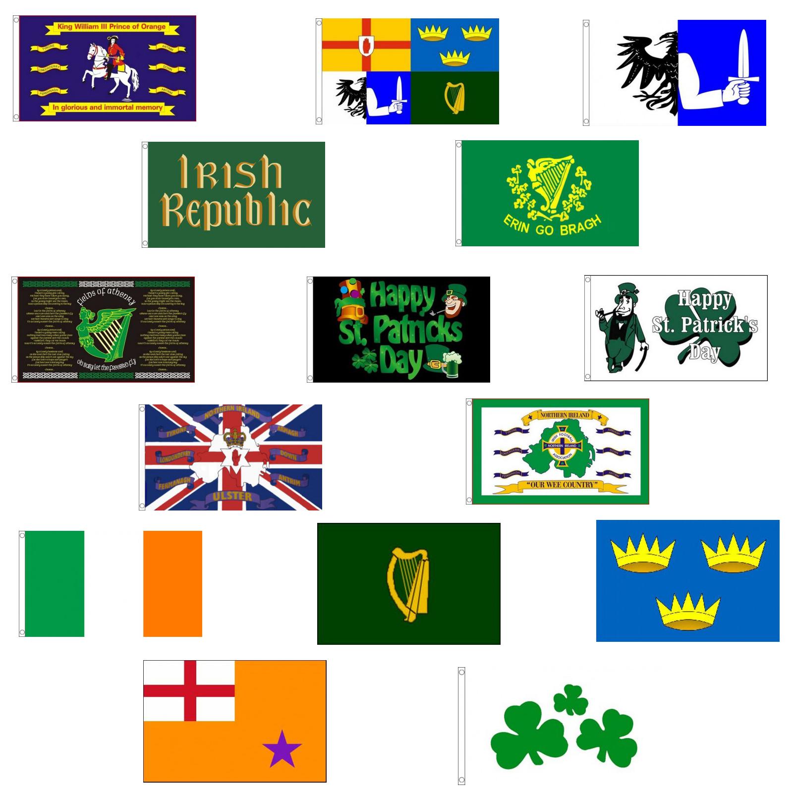 Erin Go Bragh 5/' x 3/' Flag Ireland Eire St Patricks Day 1916 Rising