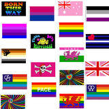 5' x 3' Gay Pride Rainbow Themed Flags With 2 Metal Eyelets - Party Festival