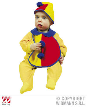 Baby Clown Bonnet And Bib Fancy Dress Costume Circus Halloween Outfit