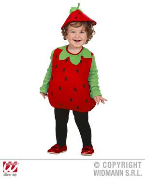 Childrens Red Strawberry Fancy Dress Costume 104Cm Outfit