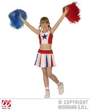Childrens Cheerleader Fancy Dress Costume American High School Outfit 128Cm