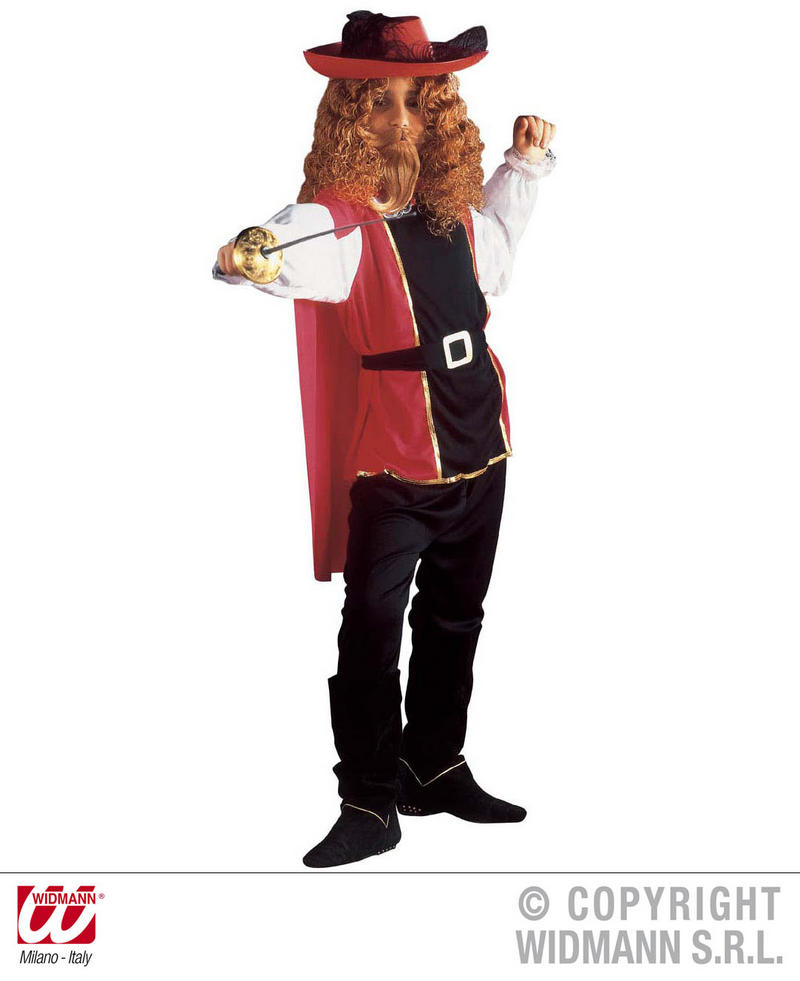 Childrens Musketeer Fancy Dress Costume Bandit Outfit 128Cm