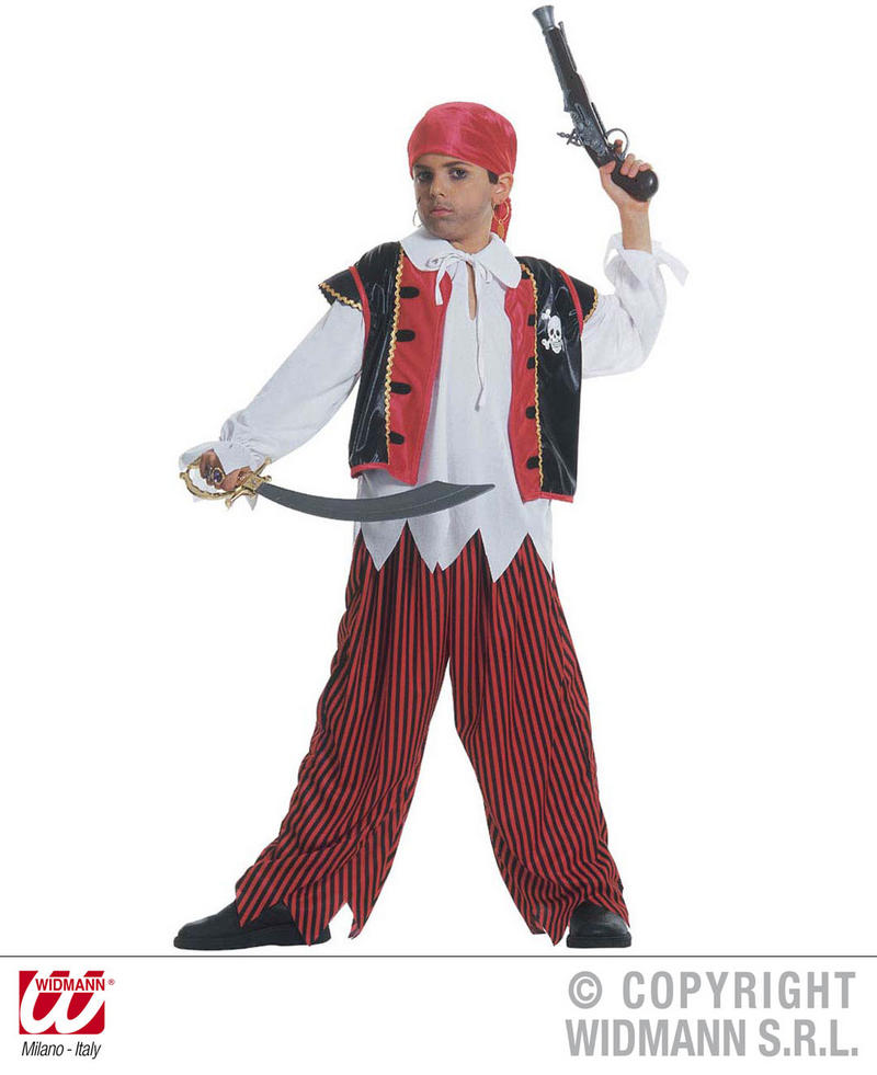 Childrens Treasure Island Fancy Dress Costume Pirate Captain Outfit 128Cm