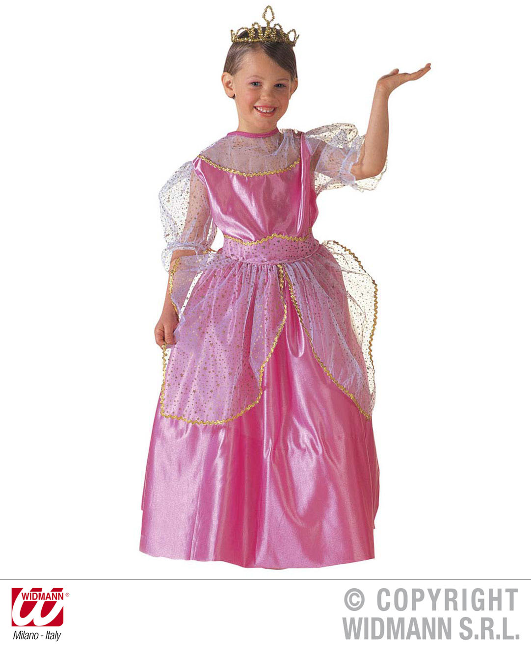 Childrens Pink Princess Fancy Dress Costume Queen Royal Fairy Outfit 128Cm