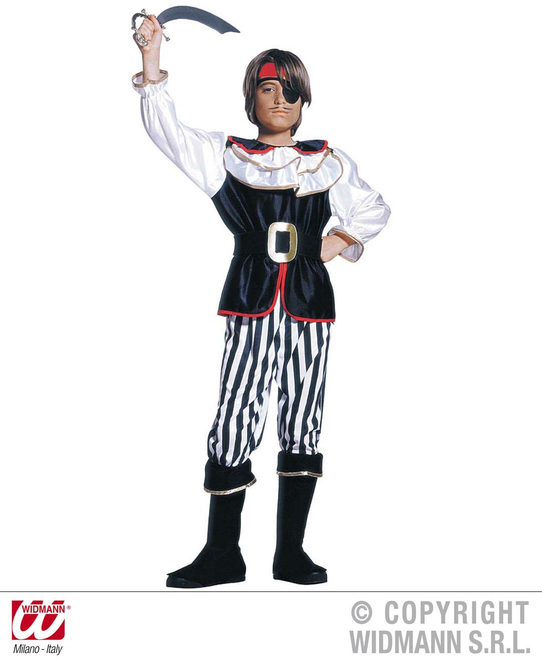 Childrens Pirate Boy Fancy Dress Costume Bucaneer Book Week Outfit 128cm