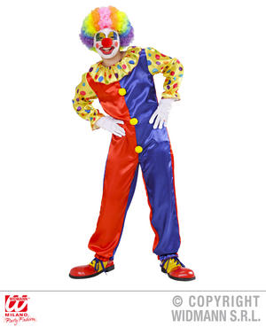 Childrens Clown Fancy Dress Outfit Halloween Costume 5-7 Yrs