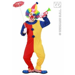 Childrens Clown Fancy Dress Outfit Halloween Costume & Hat 8-10 Yrs