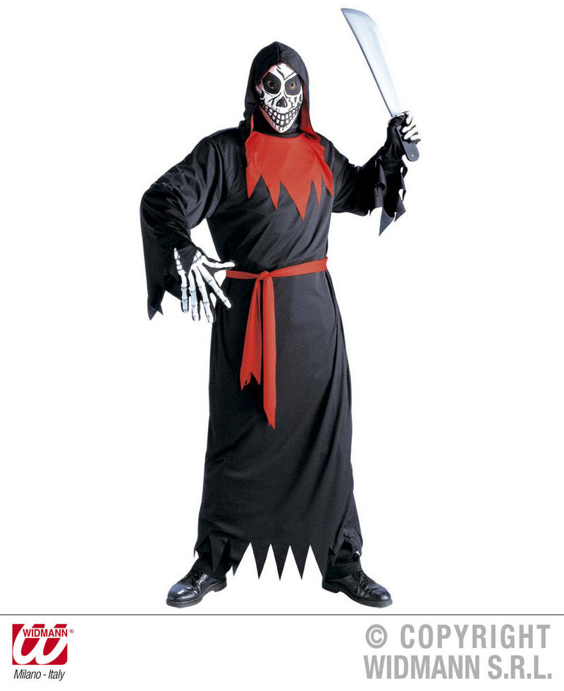 Childrens Evil Monk Ghost Fancy Dress Costume Halloween Outfit 8-10 Yrs