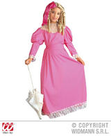 Childrens Pink Noble Lady Fancy Dress Costume Outfit 8-10 Yrs