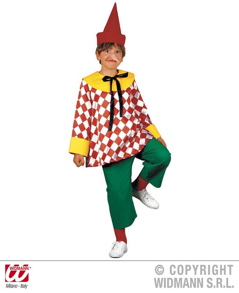 Childrens Puppet Boy Fancy Dress Costume Pinocchio Clown Outfit 140Cm