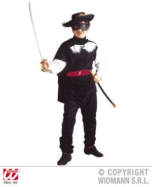 Childrens Bandit Fancy Dress Costume Zorro Musketeer Outfit 140Cm