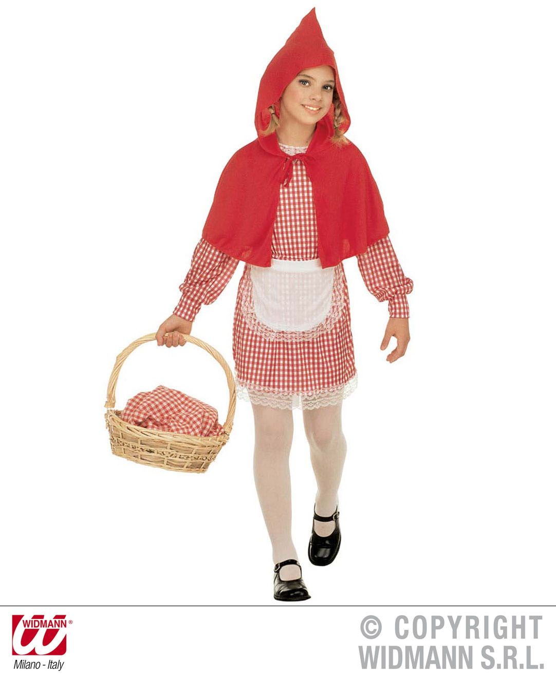 Childrens Little Red Riding Hood Fancy Dress Costume Girls Book Week Outfit 140C