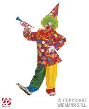 Childrens Funny Clown Fancy Dress Costume & Hat - 8-10 Yrs