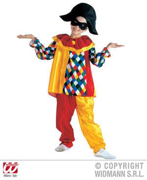 Childrens Court jester Harlequin Fancy Dress Costume 8-10 Yrs