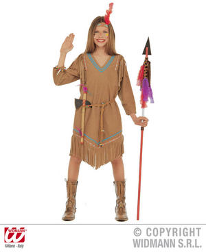 Childrens Cheyanne Fancy Dress Costume Cowboys & Indians Chief Outfit 140Cm