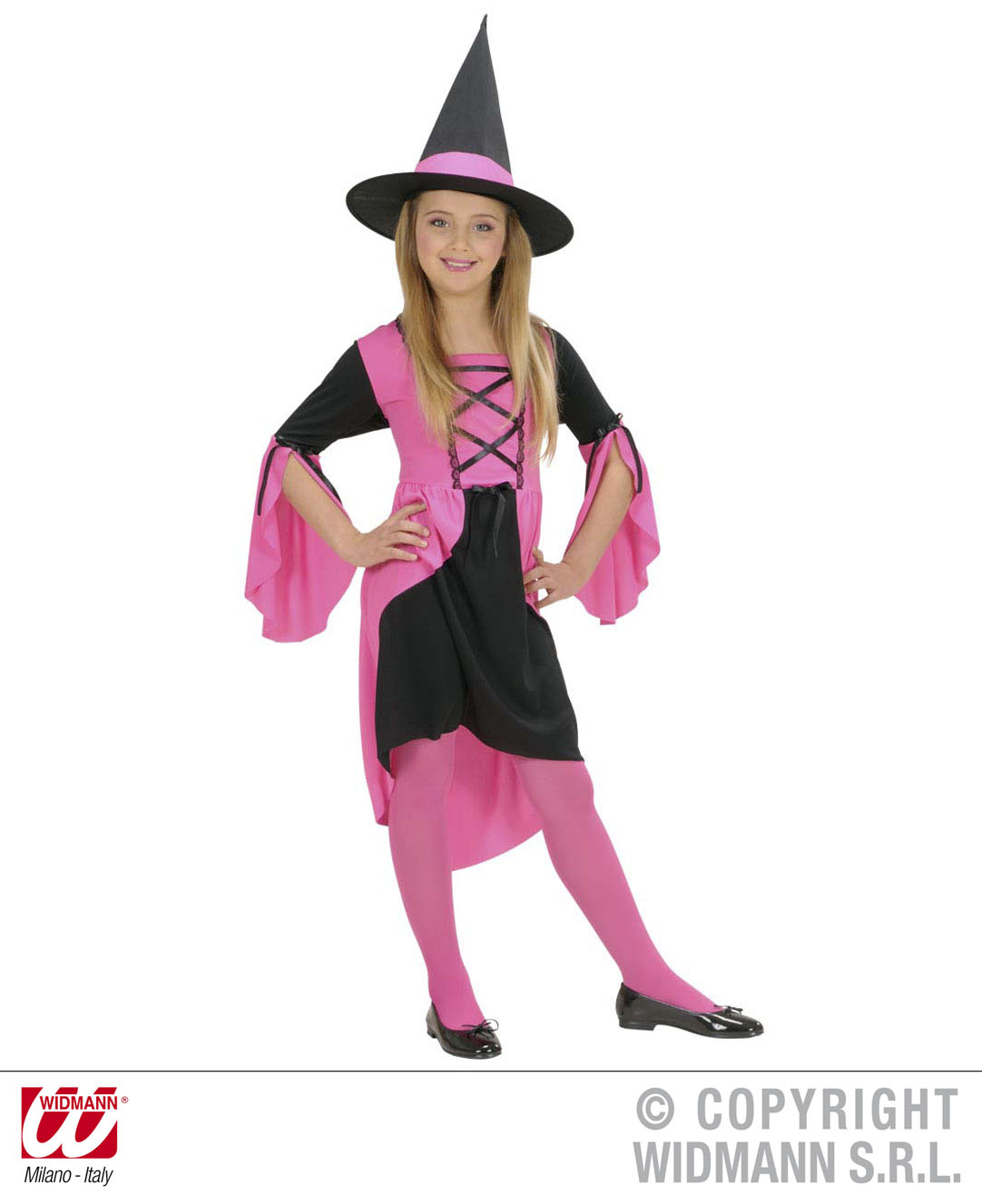 Childrens Pink Witch Fancy Dress Costume Halloween Wicked Outfit 140Cm