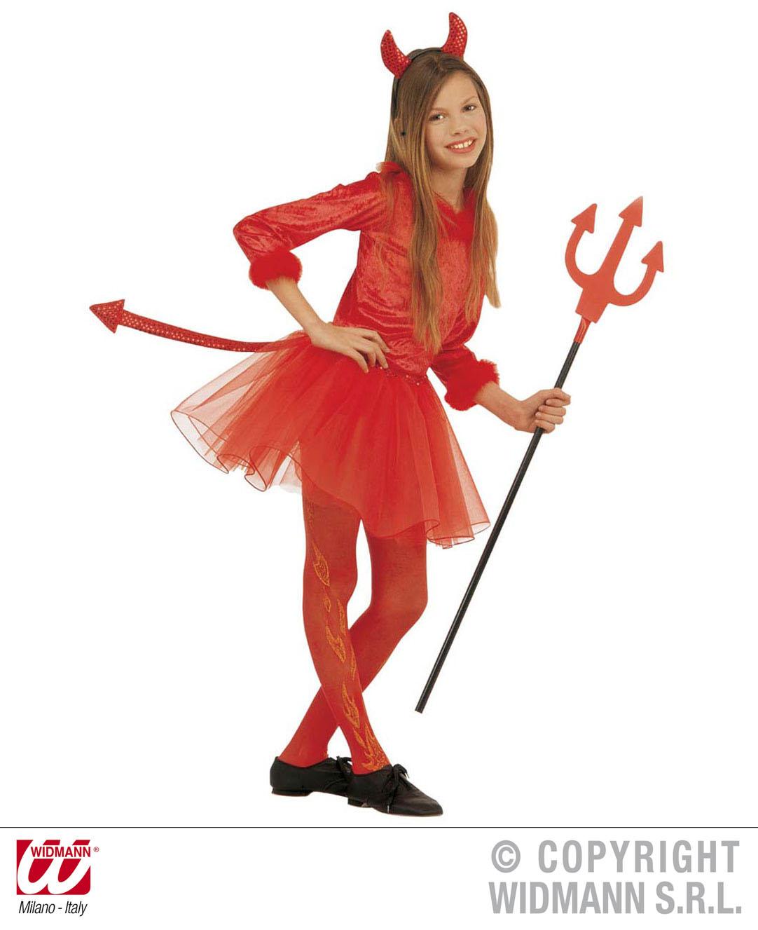 Childrens Devil Fancy Dress Costume Devil Girl Satan Halloween Outfit 158Cm
