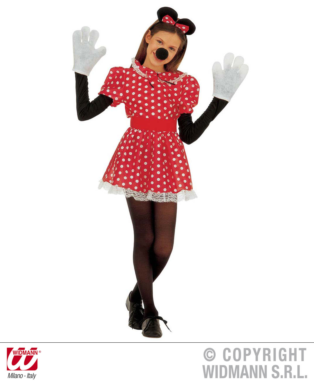Childrens Minnie Mouse Fancy Dress Costume & Ears 11-13 Yrs