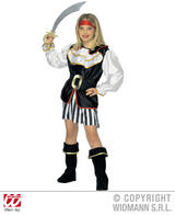 Childrens Deluxe Pirate Girl Fancy Dress Costume Set 11-13 Yrs