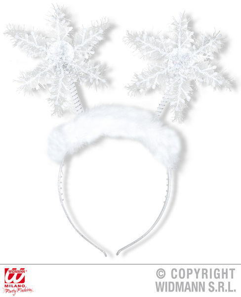 Snowflake Head Boppers Christmas Snowman Fancy Dress Costume Accessory Adult
