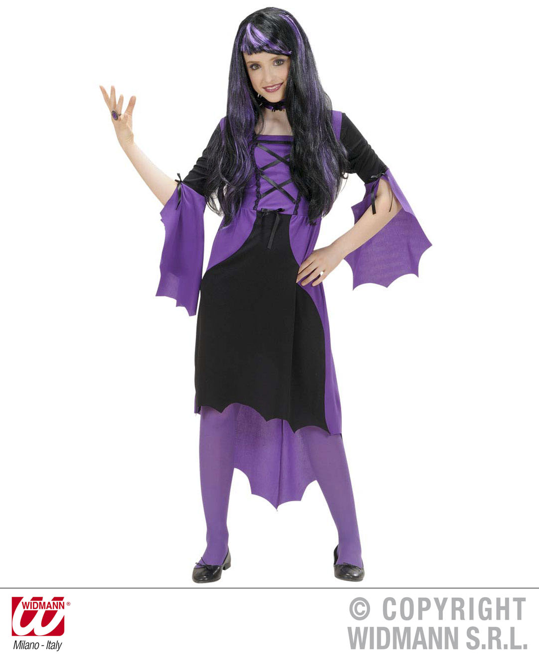 Childrens Vampire Girl Fancy Dress Costume 158Cm Halloween Outfit