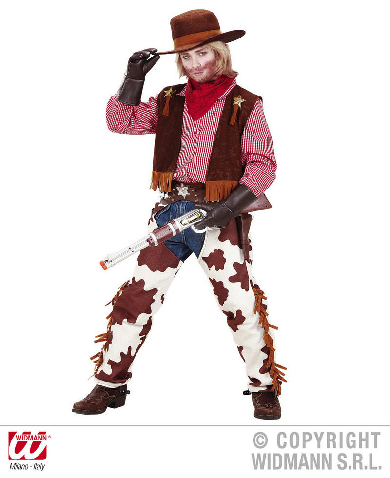 Childrens Cowboy Fancy Dress Costume Woody Toy Story Wild West Outfit 128Cm
