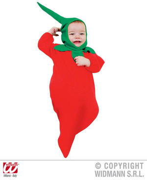 Baby Chilli Pepper Bonnet And Bib Spicey Food Fancy Dress Costume