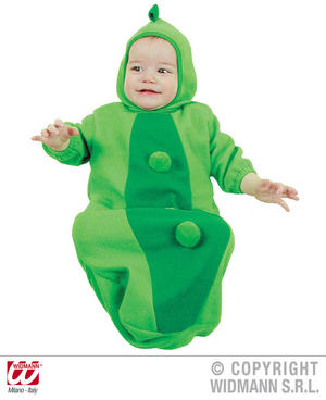 Baby Pea In Pod Bonnet And Bib Food Fancy Dress Costume