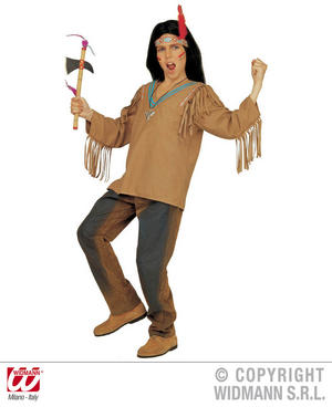 Childrens Apache Fancy Dress Costume  Indian Chief Outfit 128Cm