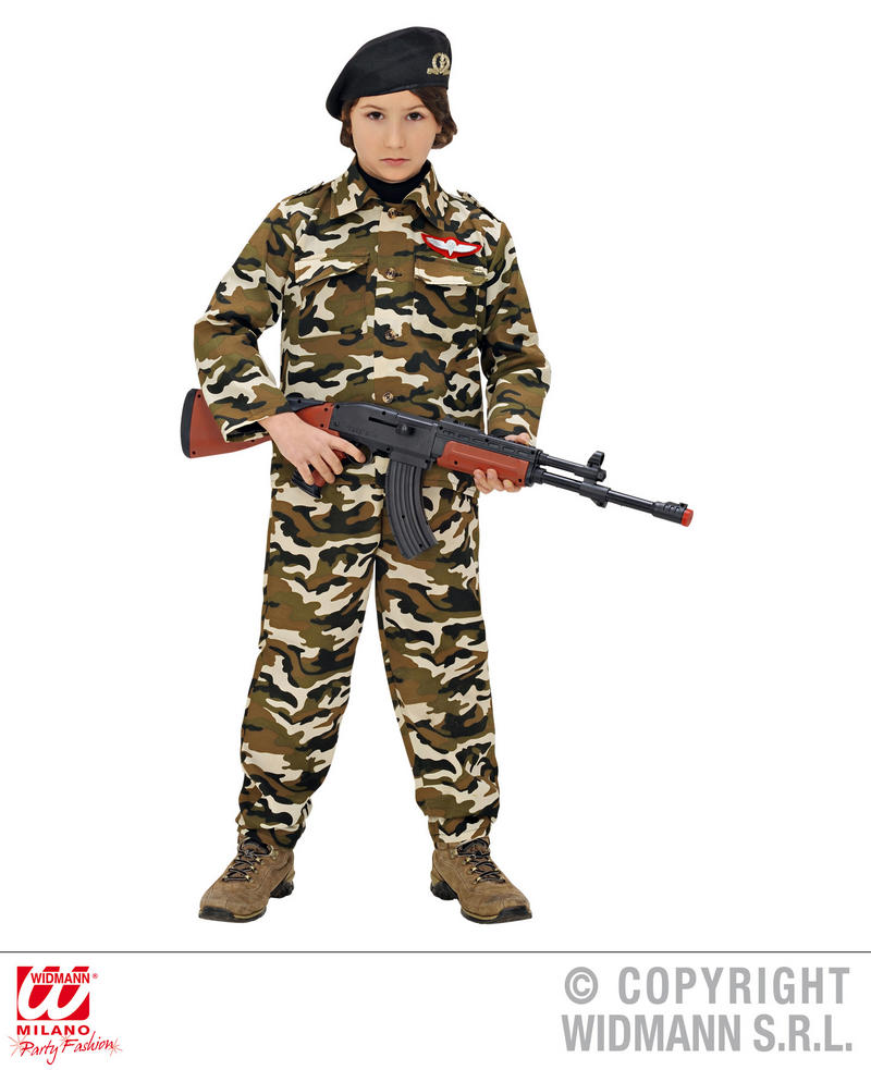 99d826950 Childrens Soldier Fancy Dress Costume Military Army Outfit 110Cm ...