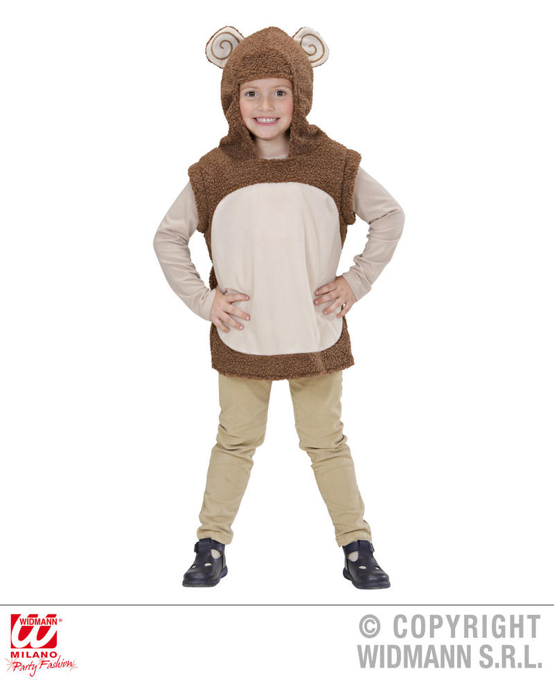 Childrens Monkey Fancy Dress Costume Chimp Ape Jungle Animal Outfit 5-8 Yrs