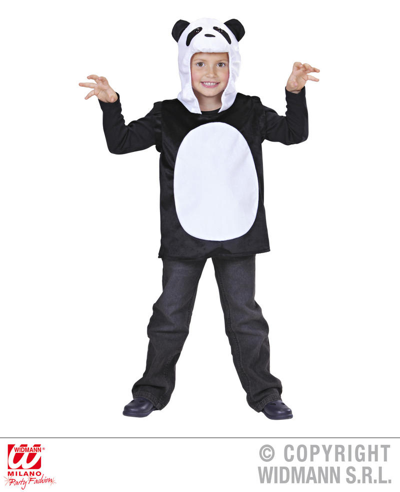 Childrens Panda Fancy Dress Costume China Animal Bear Outfit 3-5 Yrs