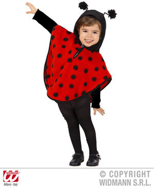 Childrens Lady Bird Fancy Dress Costume Insect Bugs Life Outfit 1-2 Yrs