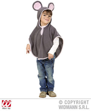 Childrens Grey Mouse Fancy Dress Costume Cinderella Animal Outfit 1-2 Yrs
