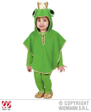 Childrens Frog Fancy Dress Costume Toad Animal Outfit 3-4 Yrs