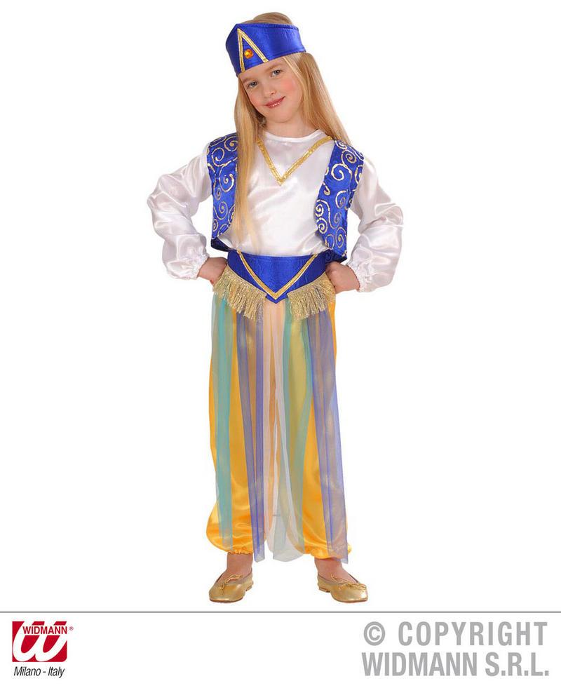 Childrens Arab Princess Fancy Dress Costume Aladdin Jasmine Outfit 1-2 Yrs