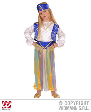 Childrens Arab Princess Fancy Dress Costume Aladdin Jasmine Outfit 1-2 Yrs