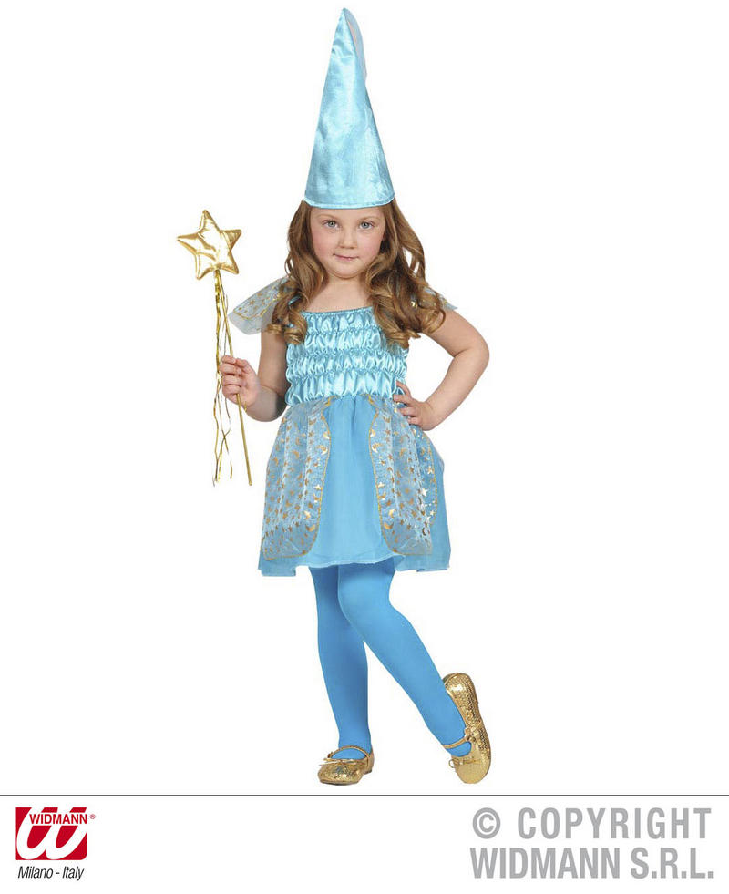 Childrens Blue Fairy Fancy Dress Costume Fairy Godmother Fairy Tale Outfit 2-3 Yrs
