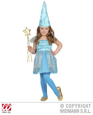 Childrens Blue Fairy Fancy Dress Costume Fairy Godmother Fairy Tale Outfit 1-2 Y