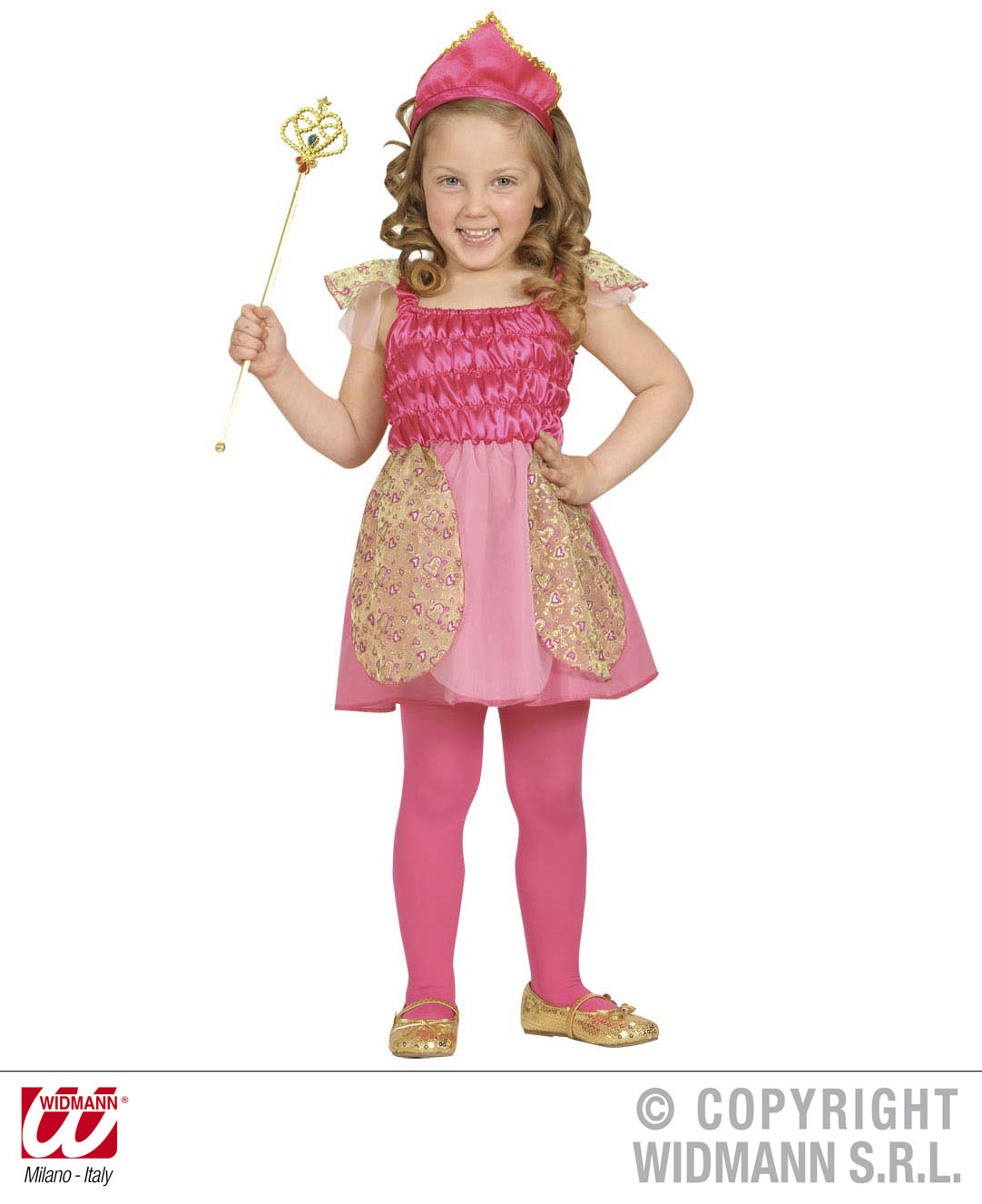 Childrens Pink Princess Fancy Dress Costume Fairy Tale Princess Outfit 2-3 Yrs
