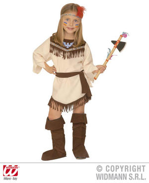 Childrens Indian Girl Fancy Dress Costume Pocahontas Outfit 4-5 Yrs