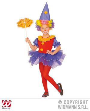 Childrens Clown Ballerina Fancy Dress Costume Girls Outfit 4-5 Yrs