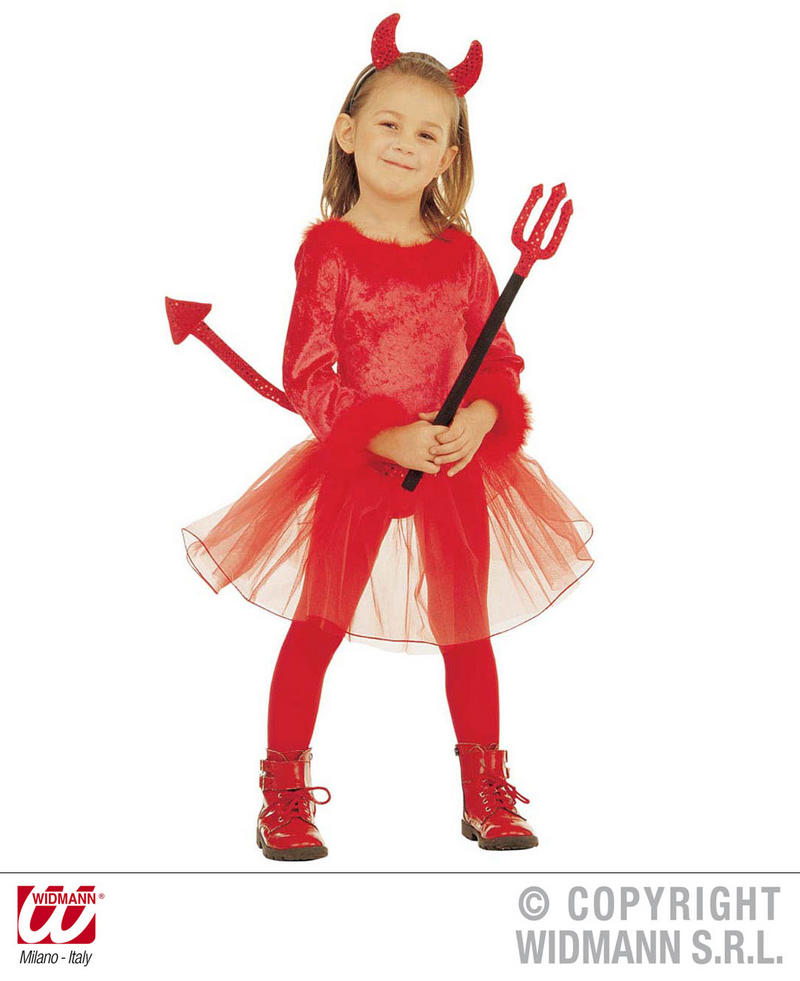 Halloween Costume 4 5.Childrens Devil Girl Halloween Fancy Dress Costume Outfit 4 5 Yrs
