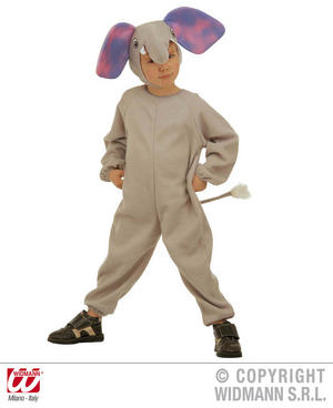 Childrens Elephant Fancy Dress Costume Safari Animal Nelly Outfit 3-4 Yrs
