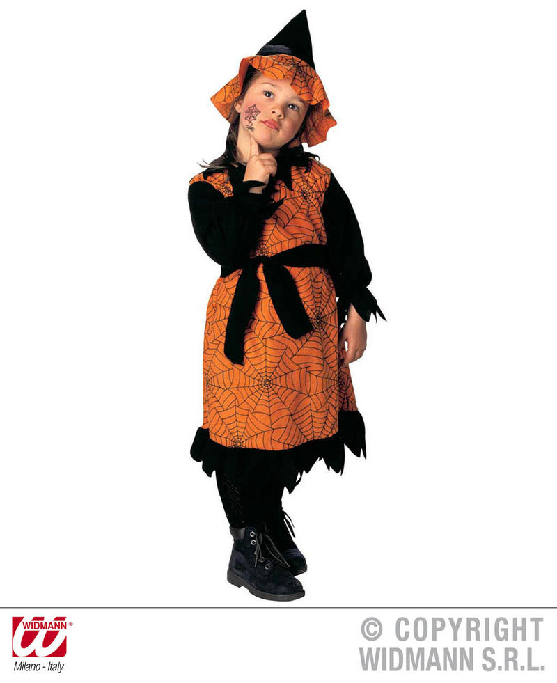 Childrens Little Witch Fancy Dress Costume Spooky Halloween Outfit 3-4 Yrs