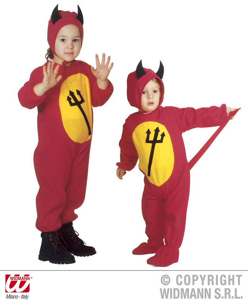 Childrens Devil Boy Fancy Dress Costume Halloween Outfit 3-4 Yrs